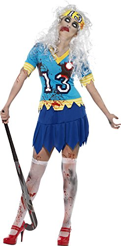 [Smiffys Women's High School Horror Zombie Hockey Player Costume] (High School Zombie Costumes)