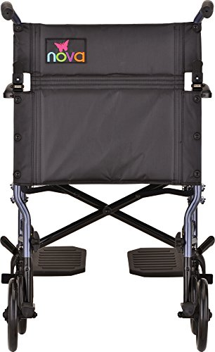 NOVA Medical Products Lightweight Transport Chair, Blue, 18 Inch, 20 Pound by NOVA Medical Products (Image #1)