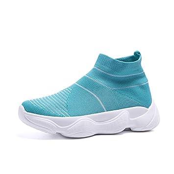 Liuxc Zapatos de mujer Calcetines de otoño Que vuelan Tejido elástico Calcetines Zapatillas Zapatos de Coco: Amazon.es: Deportes y aire libre