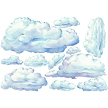 Set of 10 Beautifully Painted Cloud Nursery Decals Wall Decor Sticker