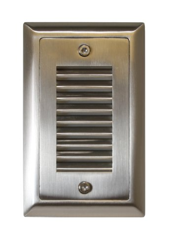American Lighting SGL-VL-SS Vertical Louver Faceplate for LED Step Light, Stainless Steel