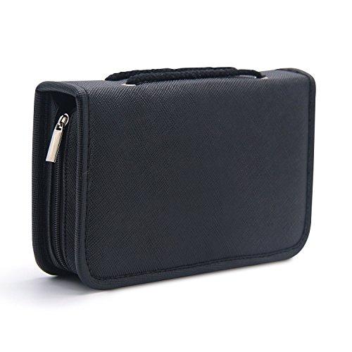 MONSTINA 24 Slots Lipstick Bag,Portable Lipstick Organizer,M