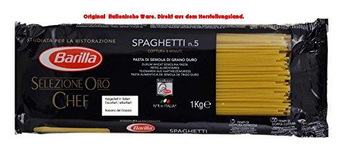 Barilla Selezione Oro Chef Spaghetti 6 x 1000g = 6000g Teigwaren aus Hartweizengriess.