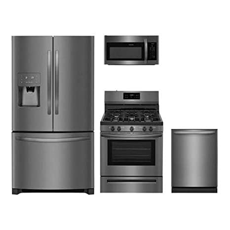 Amazon Frigidaire 4 Piece Black Stainless Steel Package