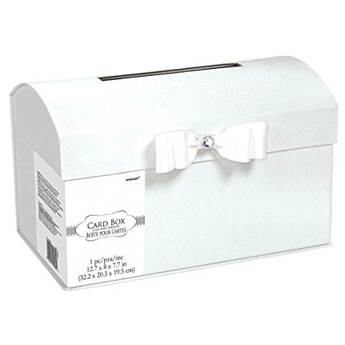 Amscan Elegant Metal Wedding Card Holder Box, 8 8 380020