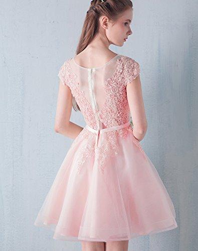 Hals Scoop Maxi Applikationen Erosebridal Spitze Abendkleid A Kleid Brautjungfer Rosa 46wT6qXx