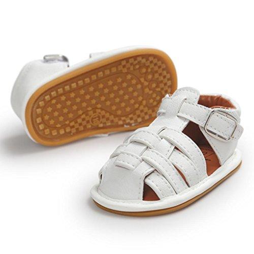 Tefamore Zapatos Sandalias para Bebés Primeros caminantes Niños Niño Niño Blanco