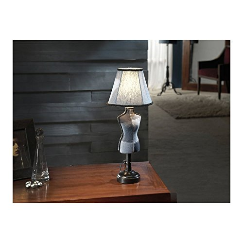 Schuller Spain 764997I4L Vintage Denim Mannequin Table Lamp Black 1 Light Living Room, bed room, Study, Bedroom LED, Small Vogue Mannequin table Lamp | ideas4lighting by Schuller
