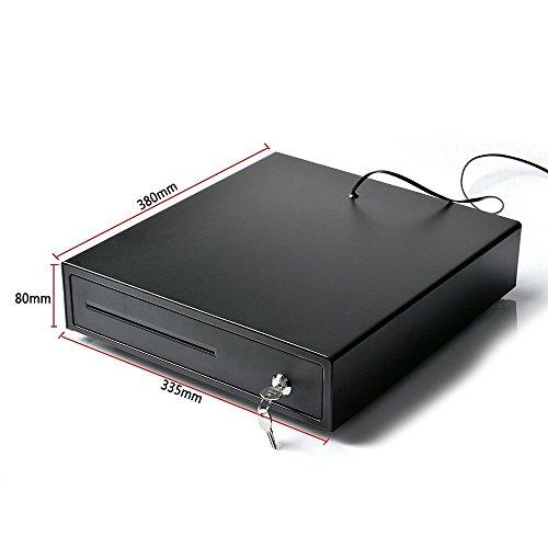 Cash Register, AGPtek Electronic Heavy-Duty Register Drawer,RJ11 Phone-Jack POS Cash Drawer Under Counter with Key-Lock, 4 Bill/2Coin for American Standard,1 Removeble Check/Bill Slot by AGPTEK (Image #5)