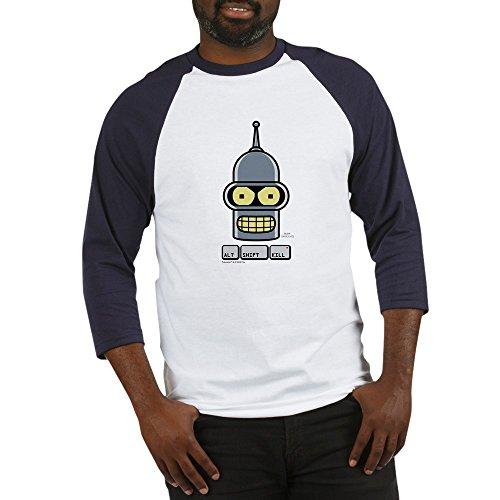 CafePress Futurama Alt Shift Kill Baseball Jersey - Cotton Baseball Jersey, 3/4 Raglan Sleeve Shirt