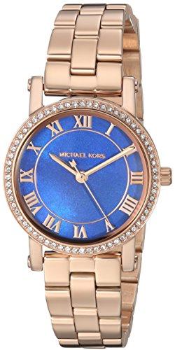 (Michael Kors Women's Petite Norie Quartz Watch with Stainless-Steel Strap, Rose Gold, 14 (Model: MK3732))
