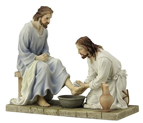 8.5 Inch Jesus Washing His Disciple