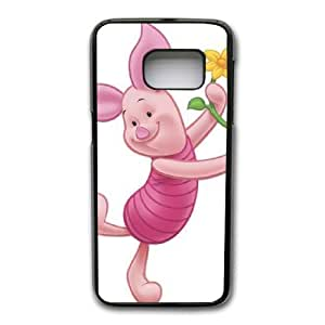 Grouden R Create and Design Phone Case, Piglet Winnie the Pooh Friend Cell Phone Case for Samsung Galaxy S7 Black + Tempered Glass Screen Protector (Free) LPC-8018556