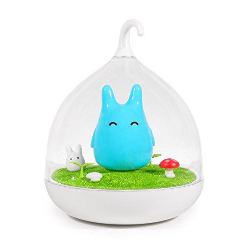 ONEVER Kinder Nachtlicht Micro Landschaft Führte Nachtlampe USB Lade Touch Sensor Führte Baby Kinderzimmer Nachttischlampe für Kinder | Blau
