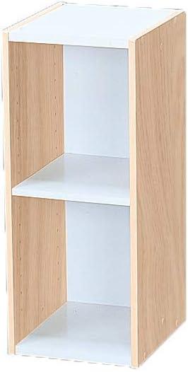 Marca Amazon - Movian Librería modular con 2 estantes en MDF, Beige, 25 x 29 x 60 cm