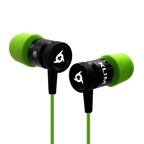 Price comparison product image KLIM Fusion Earbuds Audio - Long-lasting + 5 years Warranty - Innovative: In-ear with Memory Foam - [New 2018 Version] Green