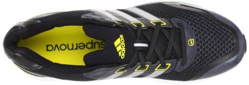 adidas Supernova Glide 5M G64651 - Zapatos para correr para hombre Negro (Schwarz (Black 1 / Metallic Silver / Vivid Yellow S13))