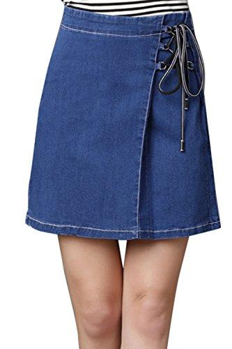 Nimpansa Les Femmes en Dentelle Taille Haute Un Dcollet Jupes Mini Jupe Sombre