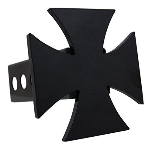 Custom Hitch Covers 12068-Black Iron Cross Hitch Cover, (Cover Iron Cross)
