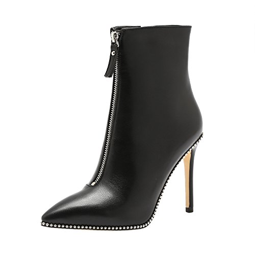 Heel Ankle High Boots - 8