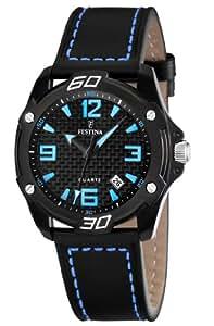 Festina Men's Sahara F16491/3 Black Leather Quartz Watch with Black Dial