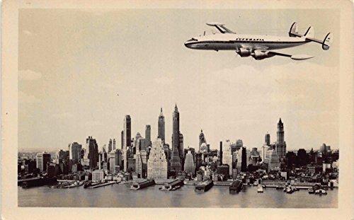 RPPC Lufthansa Super-G Constellation Airplane in Flight over New York~115880