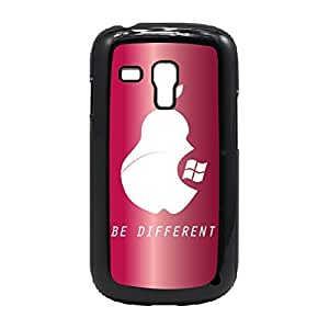 Case Fun Case Fun Red Be Different Snap-on Hard Back Case Cover for Samsung GalaxyS3 Mini (I8190)