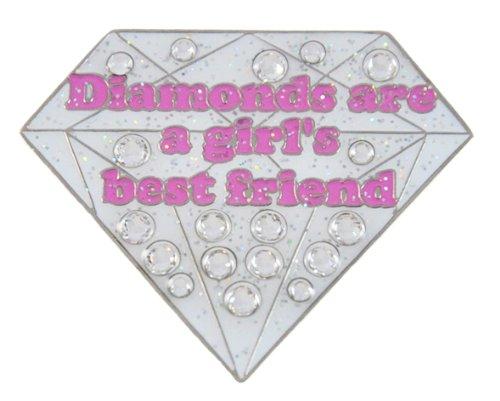 Navika Diamonds are a Girl's Best Friend Swarovski Crystal and Glitz Ball Marker with Hat Clip - Exclusive Diamond Jewelry