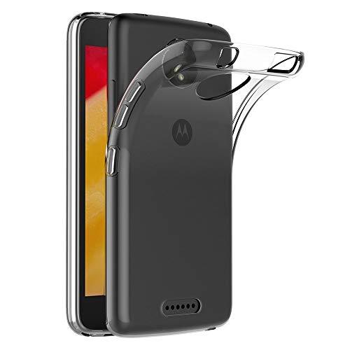 s gripline flexible soft transparent case for motorola moto c plus  transparent