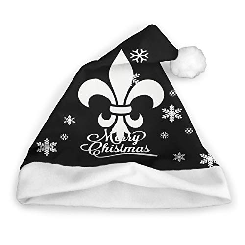 Fleur De Lis Christmas Hats Classic Santa Hat Christmas Holiday Hat