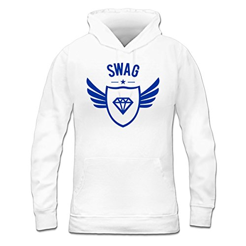 Sudadera con capucha de mujer Swag Star Winged by Shirtcity Blanco