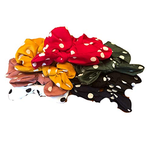 Hair Scrunchies Sets (Polka Dot Bunny Ears)