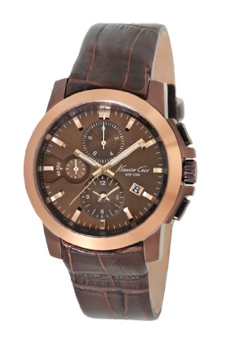 Dial Brown Dress (Kenneth Cole New York Men's KC1884 Dress Sport Brown Dial and Brown Strap Watch)