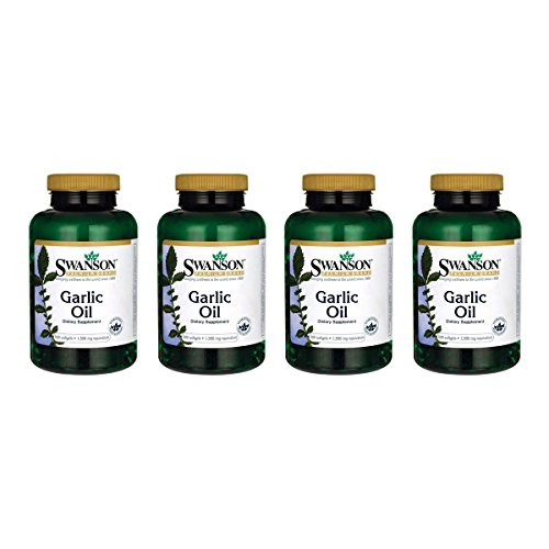 Swanson Garlic Oil 1,500 mg 500 Sgels 4 Pack