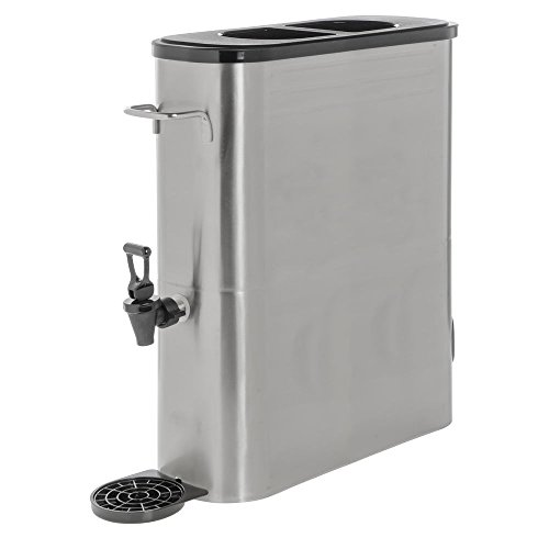 HUBERT Iced Tea Dispenser Slim Design Stainless Steel 5 Gallon