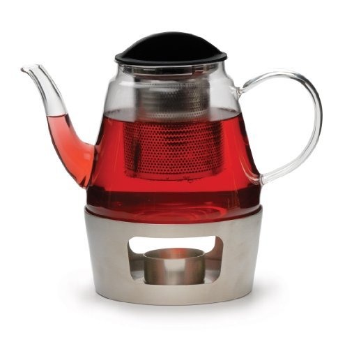 RSVP Glass Teapot and Stainless Steel Warmer by RSVP