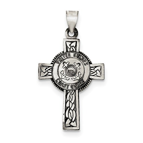 ICE CARATS 925 Sterling Silver Us Coast Guard Cross Religious Pendant Charm Necklace Military Patron Saint Medal St Christopher Fine Jewelry Ideal Gifts For Women Gift Set From Heart