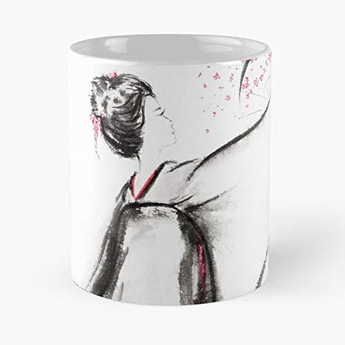 Geisha Maiko Woman Girl -funny Gifts For Men And Women Gift Coffee Mug Tea Cup White-11 Oz.