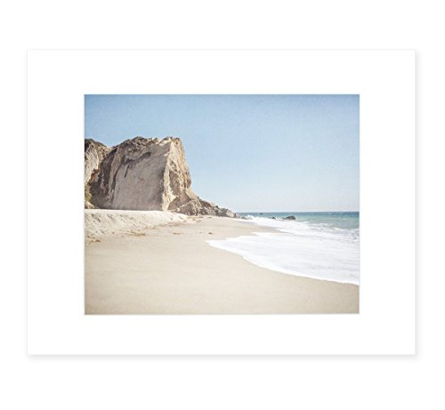Malibu Wall Art, California Landscape Beach Picture, Coastal Seascape Decor, 8x10 Matted Photographic Print (fits 11x14 frame) 'Point Dume' by Offley Green