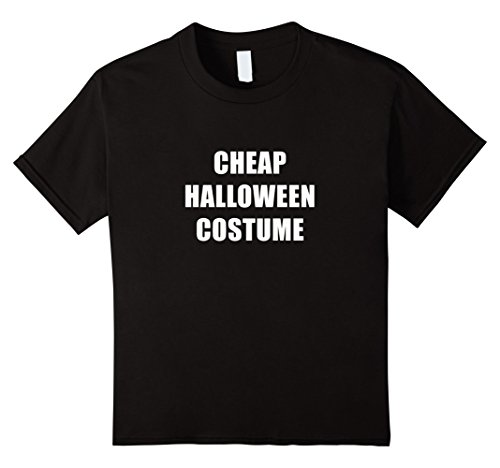 Last Second Halloween Costumes For Girls (Kids Black Cheap Halloween Costume Funny Tee Shirt Outfit 6 Black)