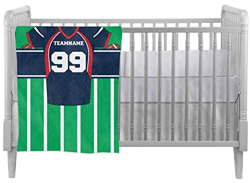Football Jersey Crib Comforter/Quilt (Personalized)