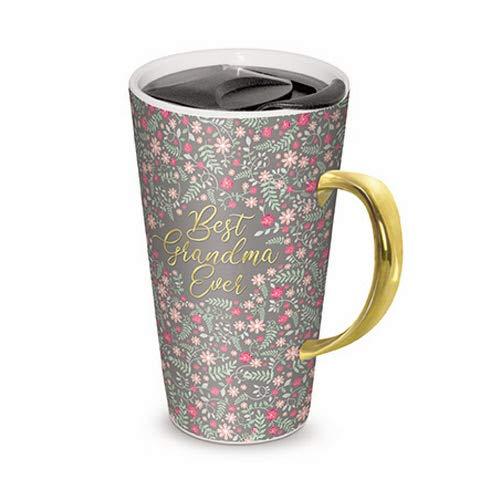 Lady Jane 13oz Spill Proof Ceramic Coffee Travel Mug With Lid And Gold Foil Handle 15946 Best Grandma Ever Buy Online In Aruba At Aruba Desertcart Com Productid 166676149