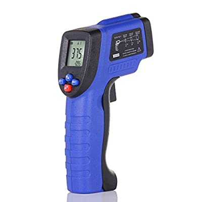 IR Infrared Thermometer?Albott Non-contact Digital Laser Temperature Gun, -58°to 788°F /-50 to 420?, Battery Included (Blue)