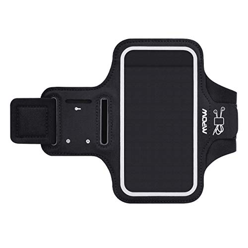 Mpow A1 [Updated] Cell Phone Armband, Water-Resistant Sport Armband for Running Workout, with Reflective Straps/key holder Compatible iPhone XS Max/XR/X, iPhone 8/8plus/7, Samsung Galaxy S9/S9 Plus/S8