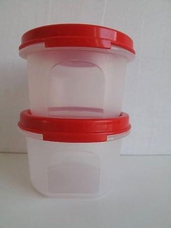 TUPPERWARE Circular Deko Back Zauber Dosen Rot (2) 200 ml für ...
