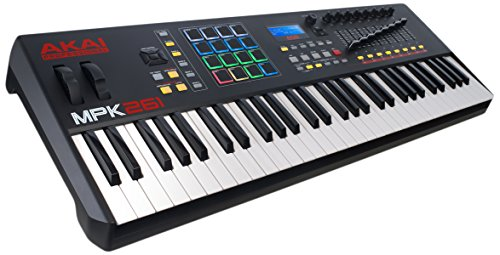 Akai Professional MPK261 | 61-Key USB MIDI Keyboard & Drum Pad Controller with LCD Screen (16 Pads / 8 Knobs / 8 Faders), VIP Software Download Included