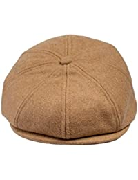 Born to Love Baby Boy Jeff Hat Vintage Driver Tweed Flat Pageboy Kid Gatsby Cap (XXL 58cm (8 yrs - up), Tan Wool)