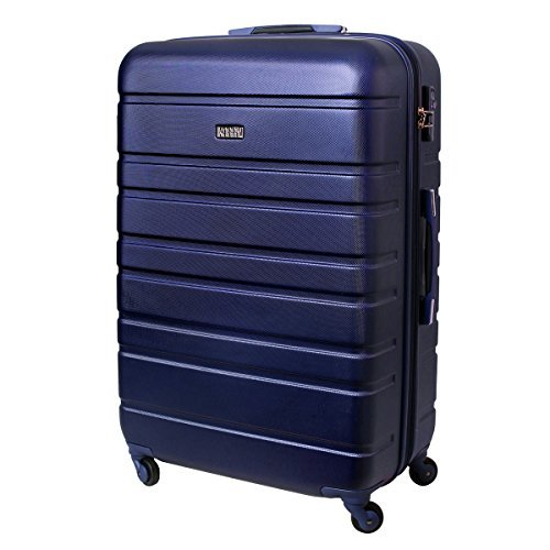 Karry XXL Reise Koffer Trolley TSA Schloss 120 Liter Saphir Blau 815 B