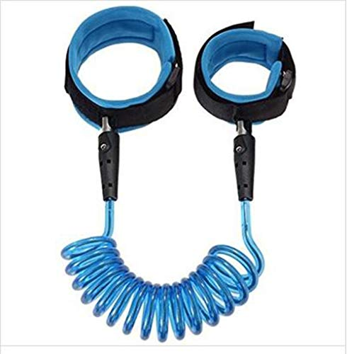 (Baby Child Anti Lost Safety Wrist Link Harness Strap Rope Leash Walking Hand Belt Band Wristband for Toddlers (Blue))