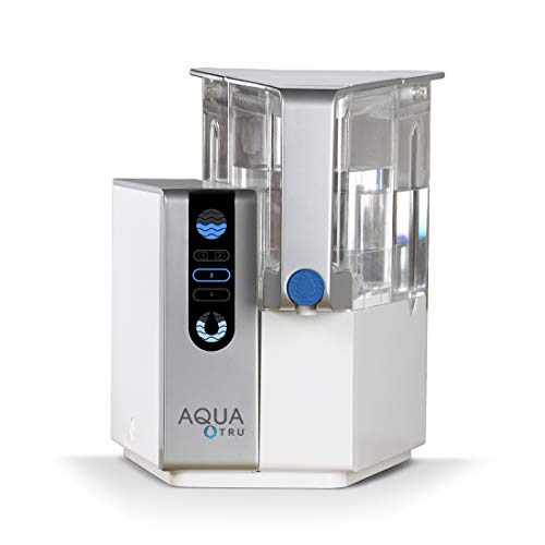 AQUA TRU Countertop Water Filtration Purification System with Exclusive 4 – Stage Ultra Reverse Osmosis Technology No Plumbing or Installation Required BPA Free